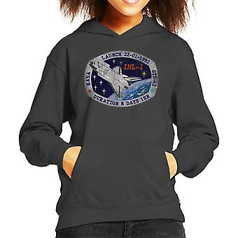 NASA STS 42 Discovery Mission Badge Distressed Kid's Hooded Sweatshirt