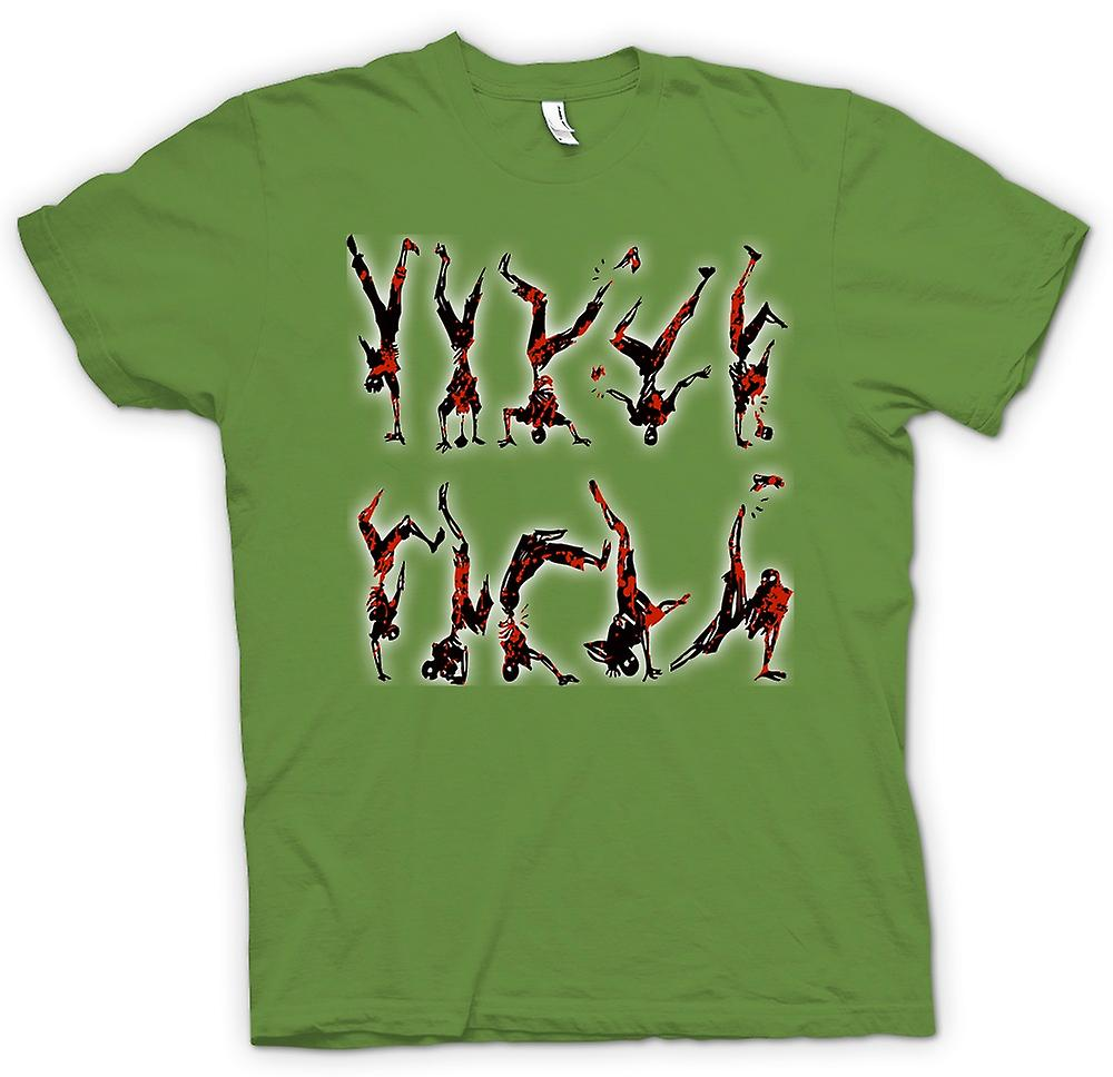 Mens T-shirt - Zombie Break Dancing