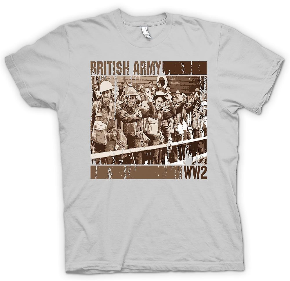 Mens t-shirt-esercito britannico World War 2