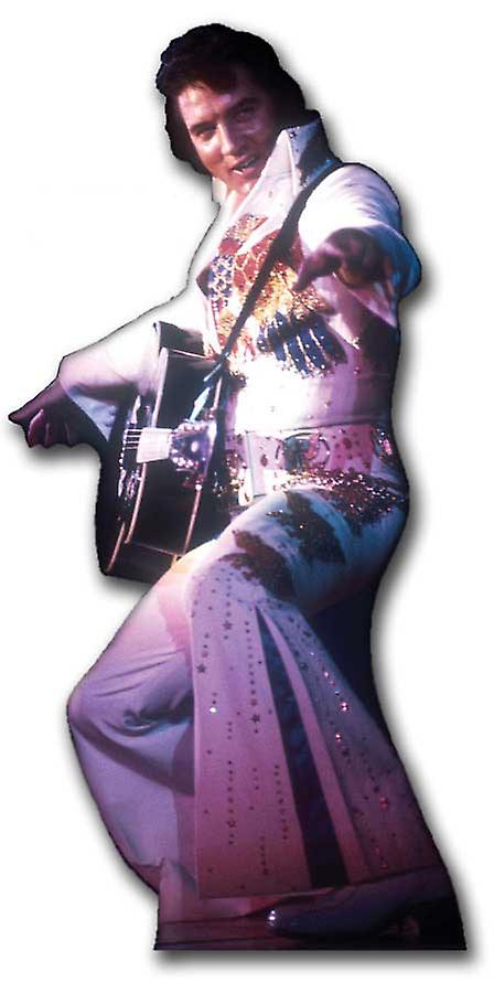 Elvis in White Jumpsuit with Guitar - Lifesize Cardboard Cutout / Standee
