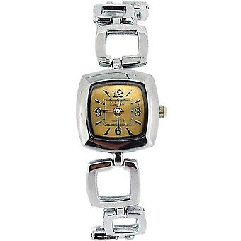 The Olivia Collection Ladies Square Gold Dial Bracelet Strap Dress Watch COS18