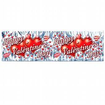 Metalen Fringe Happy Valentine's Day Banner