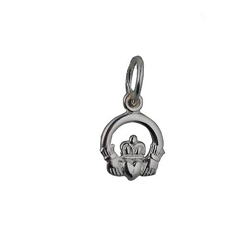 Silver 8x6mm Claddagh Pendant or Charm