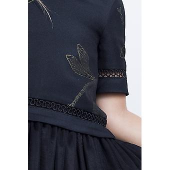 فستان فتاة تول أسود