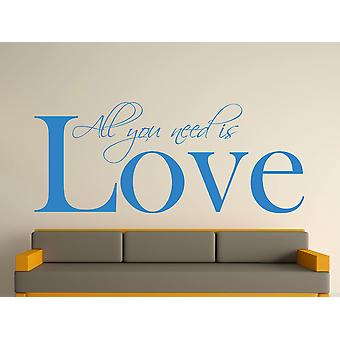 All You Need Wall Art Sticker - Olympic Blue
