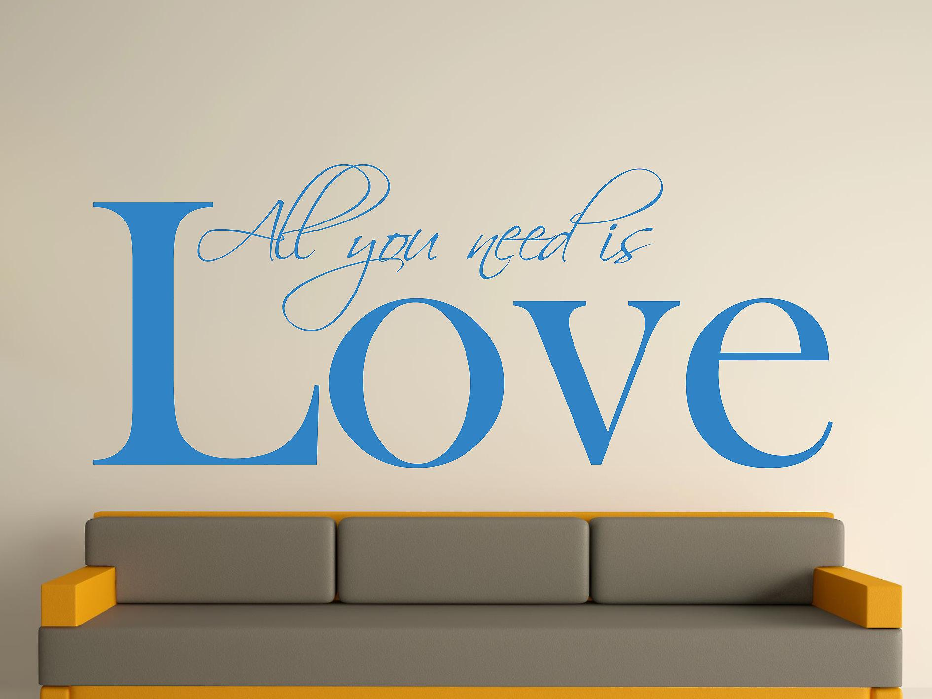 All You Need Art Wall Sticker - bleu olympique