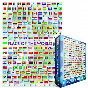 Flags Of The World 1000 Stück Jigsaw Puzzle (Pz)