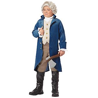 George Washington Founding Father American President Colonial Boys Costume