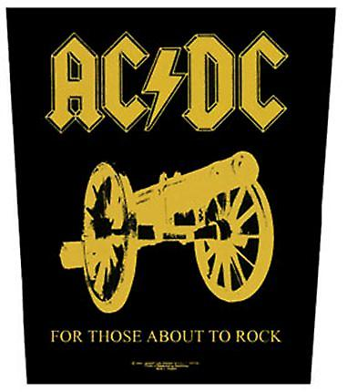 AC/DC For Those About To Rock large sew-on back patch  (mm)