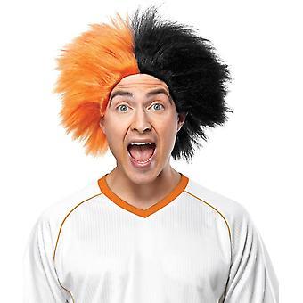 スポーツ楽しいオレンジ黒のかつら