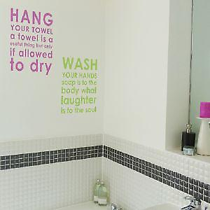 Bathroom Rules - Hang Wall Sticker