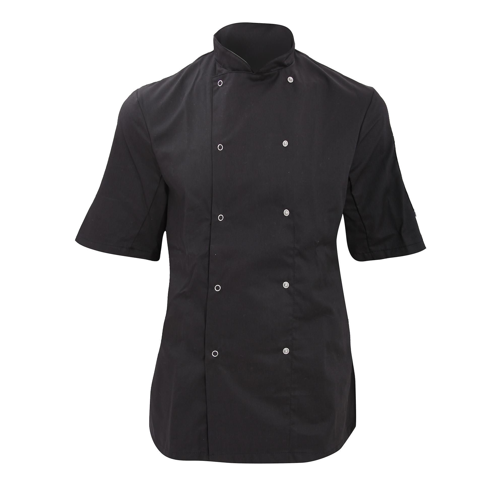 Dennys Womens/Ladies Economy Short Sleeve Chefs Jacket / Chefswear (Pack of 2)