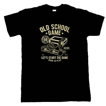 Old School Retro Game Mens T-Shirt | Gamer Graphics Console PC Shooter RPG Free Roam  | Timeless Retro Vintage Iconic Seminal Memorable  | Gaming Gift Him