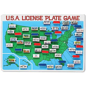 USA lisensen Plate spillet