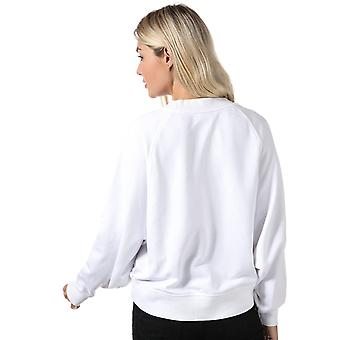 Womens Only Stella Batwing Crew Sweatshirt In Bright White