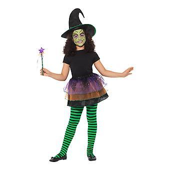 Beautiful witch set Carnival accessory Halloween pretty witch Kit Hat Tutu magic rod