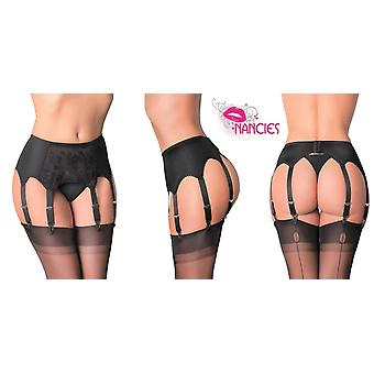 Nancies Lingerie Lace 8 Strap Suspender / Garter Belt for Stockings