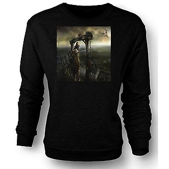 Womens Sweatshirt Post Apocolyptic Fantasy Design