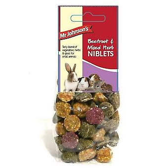 Mr Johnsons Beetroot And Mixed Herb Niblets Small Pet Food (Pack Of 6)