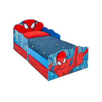 Spiderman Toddler Bed with Storage and Light Up Eyes