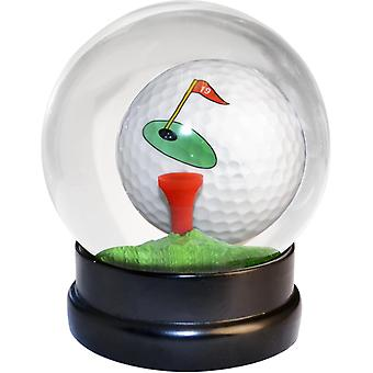 Balle de globe de golf avec le tee