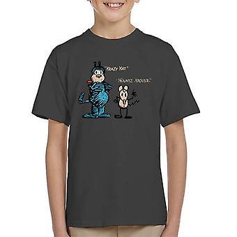 Krazy Kat og ignatz skisse Kid ' s T-skjorte