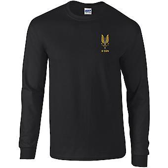 SAS Special Air Service D Sqn - lizenzierte britische Armee bestickt langärmelige T-Shirt
