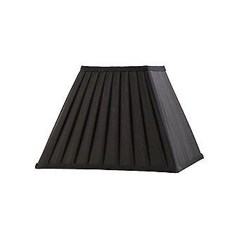 Diyas Leela Square Pleated Fabric Shade Black 150/300mm X 225mm