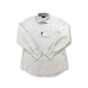 Pal Zileri shirt in white with blue woven design