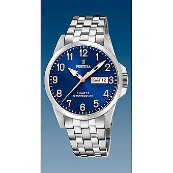 Festina - Armbanduhr - Herren - F20357/B  - Stahlband Klassisch
