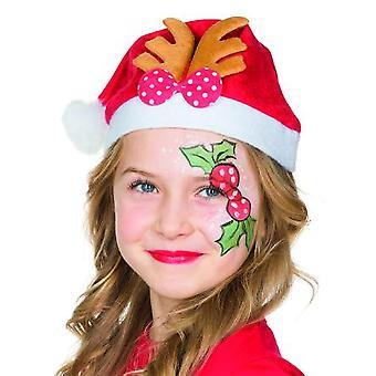 Weihnachtsmütze Kinder Nikolaus Rentiergeweih Accessoire