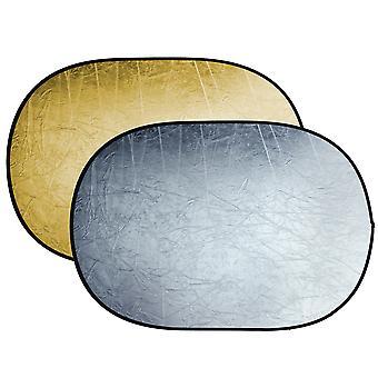 BRESSER BR-TR5 Faltreflektor gold/silber 120x180cm