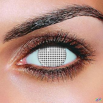 Weißem Mesh Kontaktlinsen (Paar)