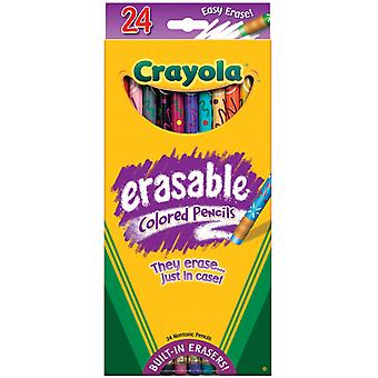 Crayola Erasable Colored Pencils 24 Pkg Long 68 2424