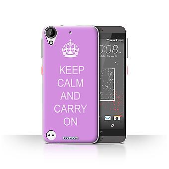 STUFF4 Case/Cover for HTC Desire 630/Carry On/Pink/Keep Calm