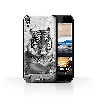 STUFF4 Case/Cover for HTC Desire 830/Tiger/Mono Zoo Animals