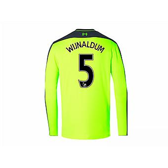 2016-17 Liverpool Third Long Sleeve Shirt (Wijnaldum 5) - Kids