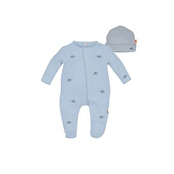 Magnificent Baby Darjeeling Express Baby Boy Footie & Hat Set