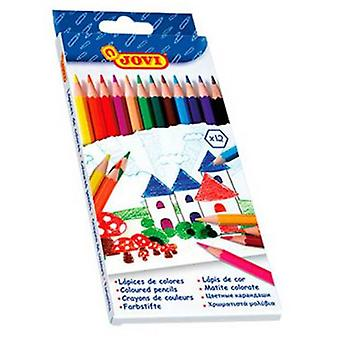 Jovi Case 12 Wooden pencils Assorted colors (Toys , School Zone , Drawing And Color)