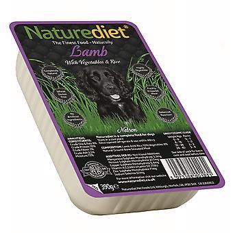 Naturediet lam med grøntsager & ris 390g (pakke med 18)