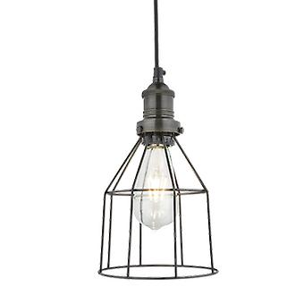 Simple Vintage Cage Wire Pendant Light - Cone - 6.5