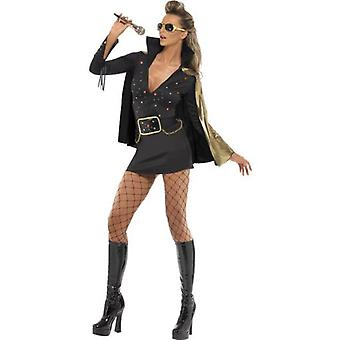 Smiffys Elvis Viva Las Vegas Costume Black With Dress & Cape (Costumes)