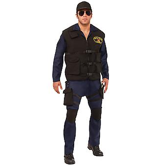 Seal Team Soldier Military Navy Army FBI Police Uniform Mens Costume