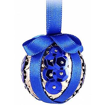 SALE - Pinflair Sequin & Pin Craft Kit to Make 10 Blue Christmas Baubles
