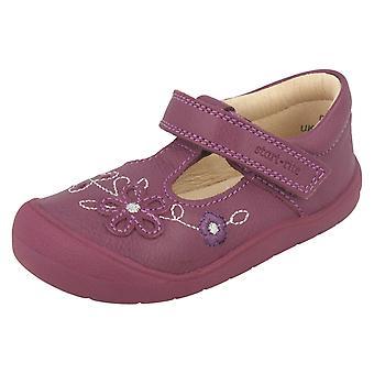Ragazze Startrite fiore dettaglio scarpe piatte prima Mia