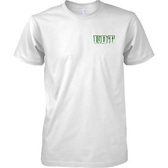 UDT inspirou - equipe de demolição submarina - botões das forças especiais - Mens peito Design t-shirt