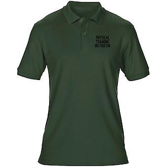 PTI körperliches Training Instructor Text Stickerei Logo - offizielle Herren Polo-Shirt
