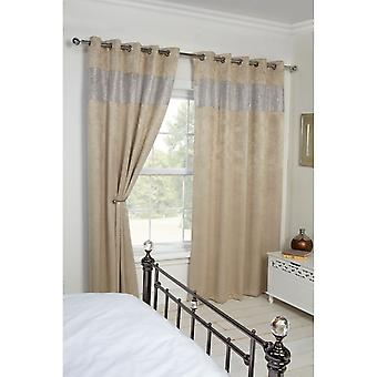 Emma Barclay Diandra Eco Friendly Black Out Diamante Design Thermal Curtains