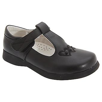 Boulevard Girls Touch Fastening T Bar Shoes