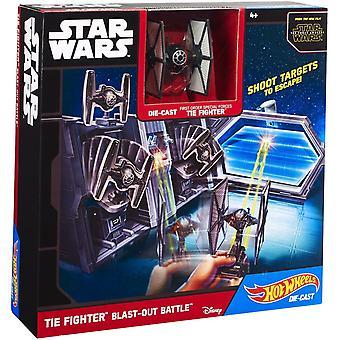 Hot Wheels Star Wars TIE Fighter walki Blast grać zestaw